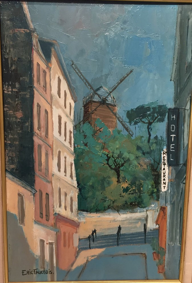 Montmartre by Eric Fauchois OIl painting on panel – 41x27cm