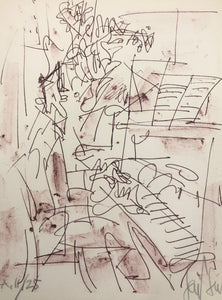 The Pianist by  Gen Paul circa 1970