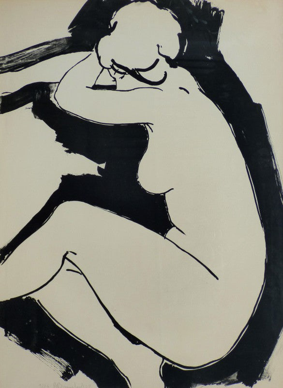 Le Nu allongé by Alain BONNEFOIT Lithograph on paper – 74x53cm