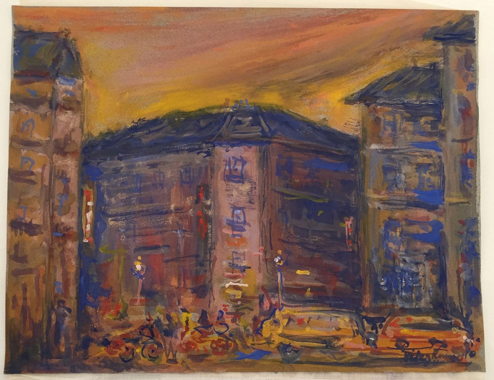 Paris by Velez Ramos Gouache painting on paper – 21x29cm – date : 1990