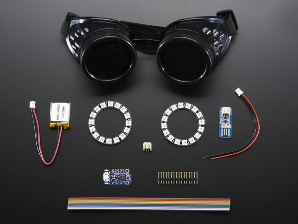 Wearable Adafruit's Trinket-Powered NeoPixel Goggle Kit Pack