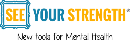 See Your Strength logo. A new tool for student mental health and suicide prevention resource through positive mirror decals.