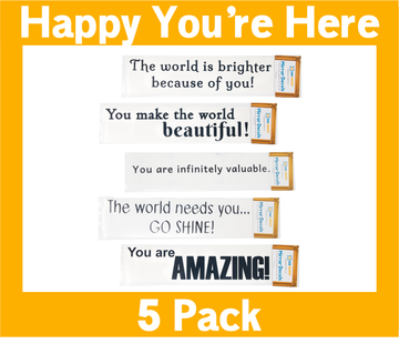 Happy You're Here Pack of 5