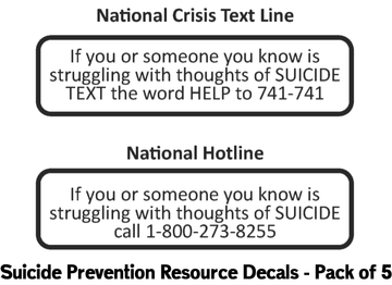Suicide Prevention Resource Pack of 5