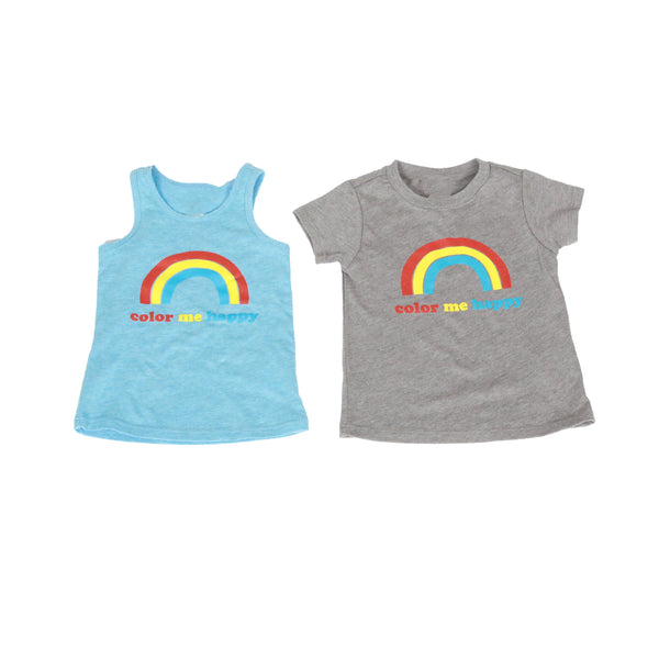 Colour Me Happy Tank Top + Tee