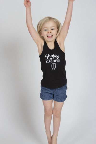 Sharing is Caring Girls Racerback Tank Top