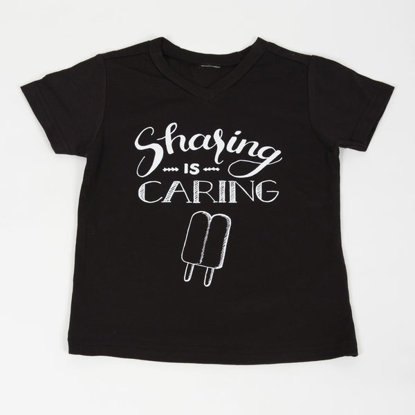 Sharing is Caring Kids V-neck Tee