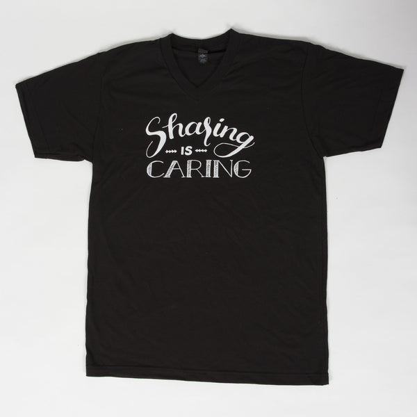 Sharing is Caring Unisex Adult V-neck Tee