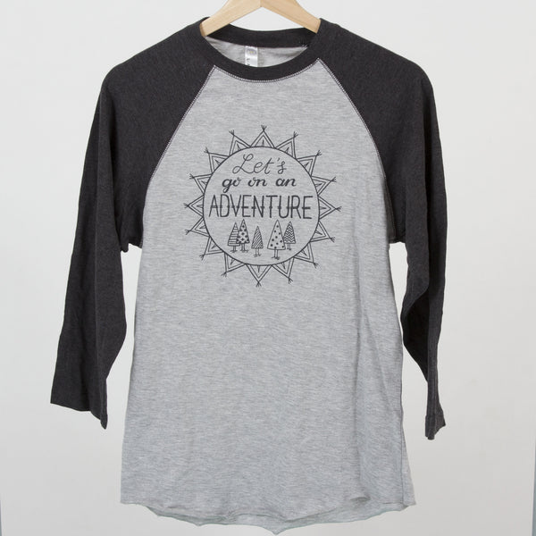 Let's Go on an Adventure Adult Unisex Baseball Tee