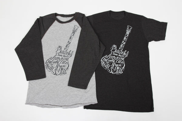 Guitar Adult Unisex Baseball Tee