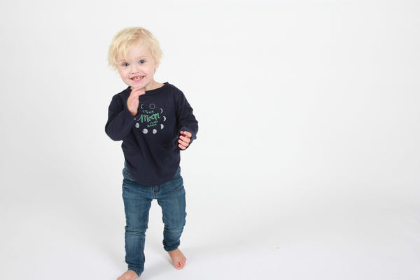 To the Moon and Back Kids Long Sleeve Tee