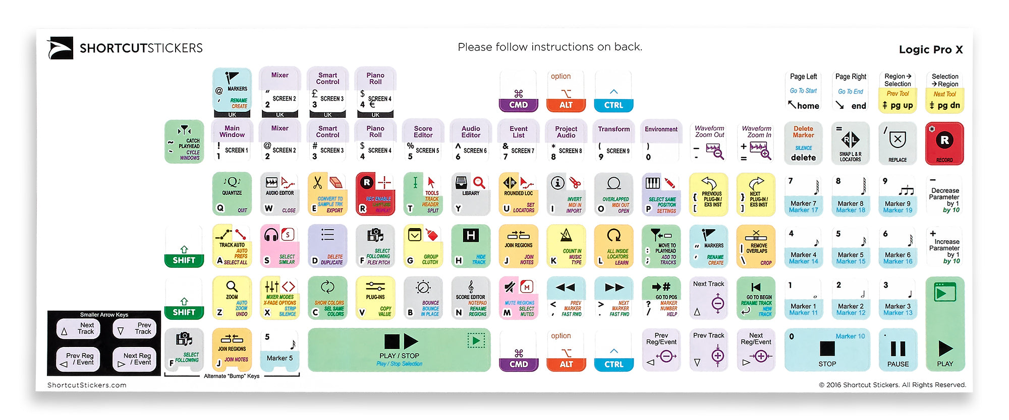 graphic about Printable Keyboard Stickers identify Logic Skilled X