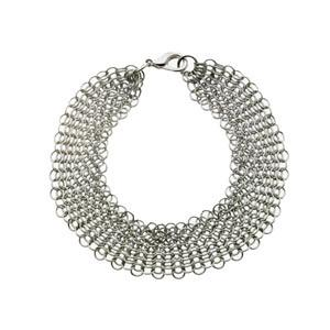 Chain Mail Bracelet- Fluid and clean stainless steel ring mesh bracelet.