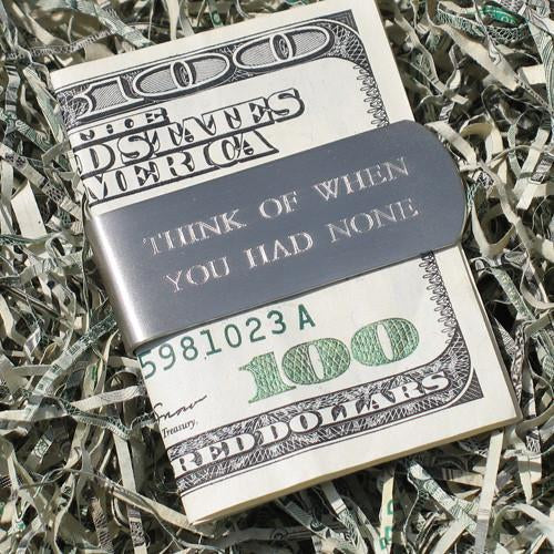 think of when you had none money clip