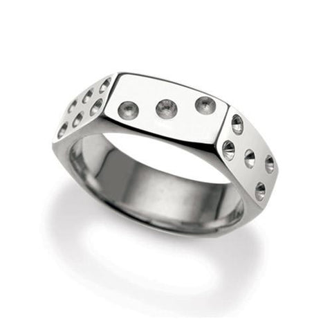 Nut Dice Ring- spin the dice on your hand. Sterling silver and very comfortable.