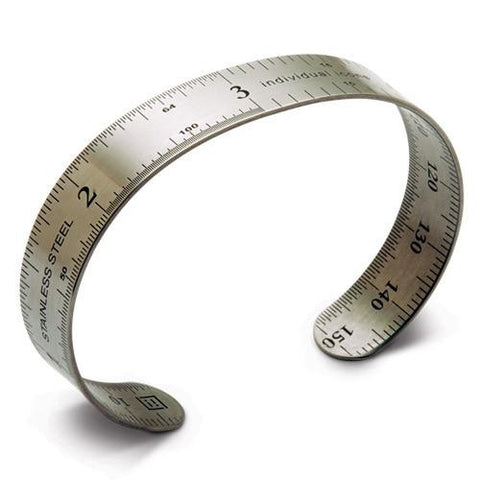 "Ruler Bracelet- 6"" long x 1/2 wide. High grade stainless steel bracelet."