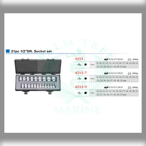 "DR. Socket set 1/2"" 21pc"