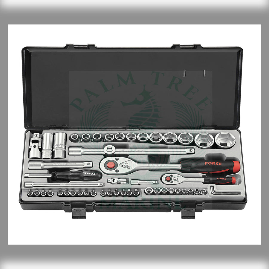 "Socket combination set 1/4"" & 1/2"" 53pc"