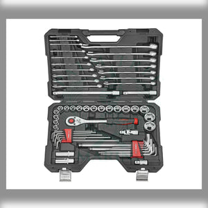 "DR. Socket, L key and combination wrench set 1/2"" 62pc"