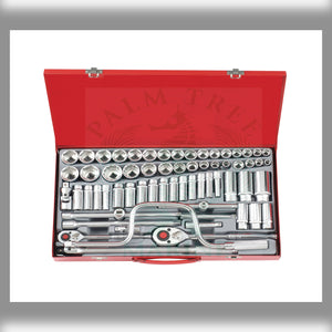 "Socket combination set (S&M) 3/8"" & 1/2"" 64pc"