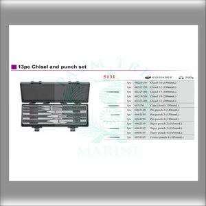 Chisel and punch set 13pc