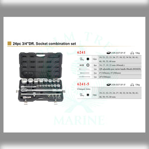 "Socket combination set  3/4"" 24pc"