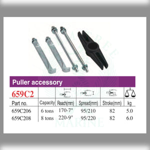 Puller accessory 2-jaw, for 6 tons