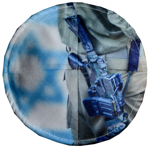 Soldier with Israeli Flag Kippah