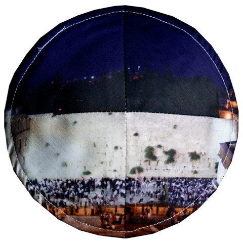 Western Wall at Night Kippah