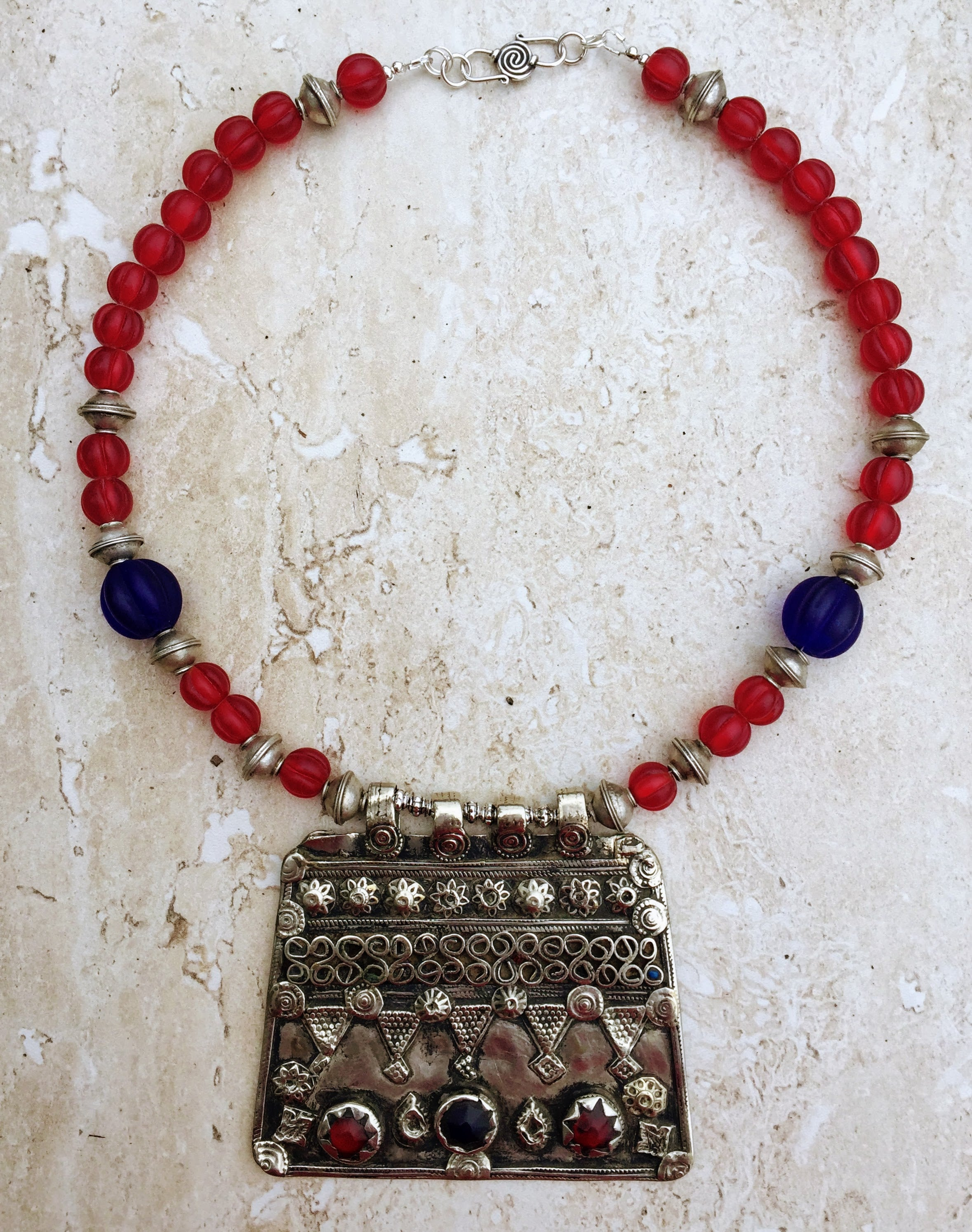 view norma full coral berber tag necklace copper oaxaca navigator schafer cultural