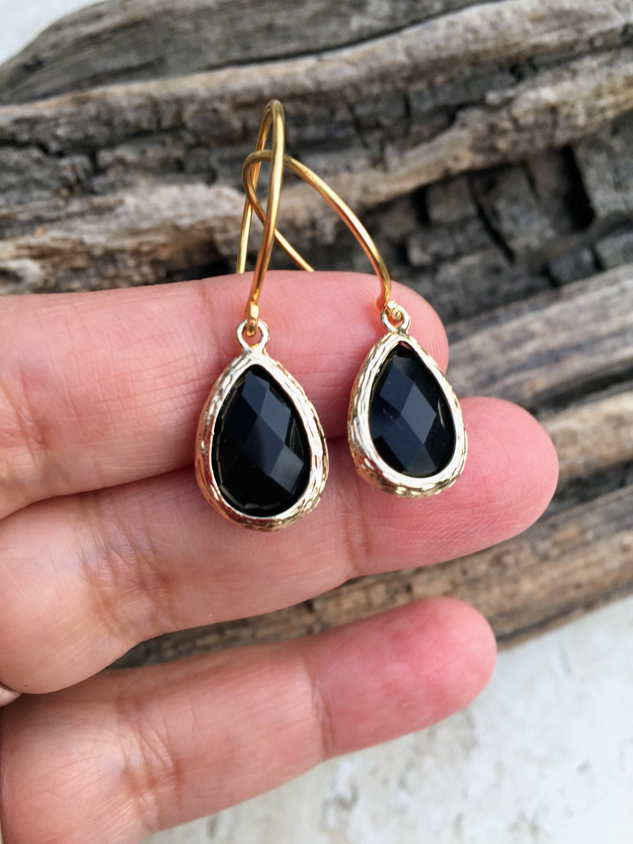 and jewelry black gemstones htm gold with beautiful natural earrings pendants