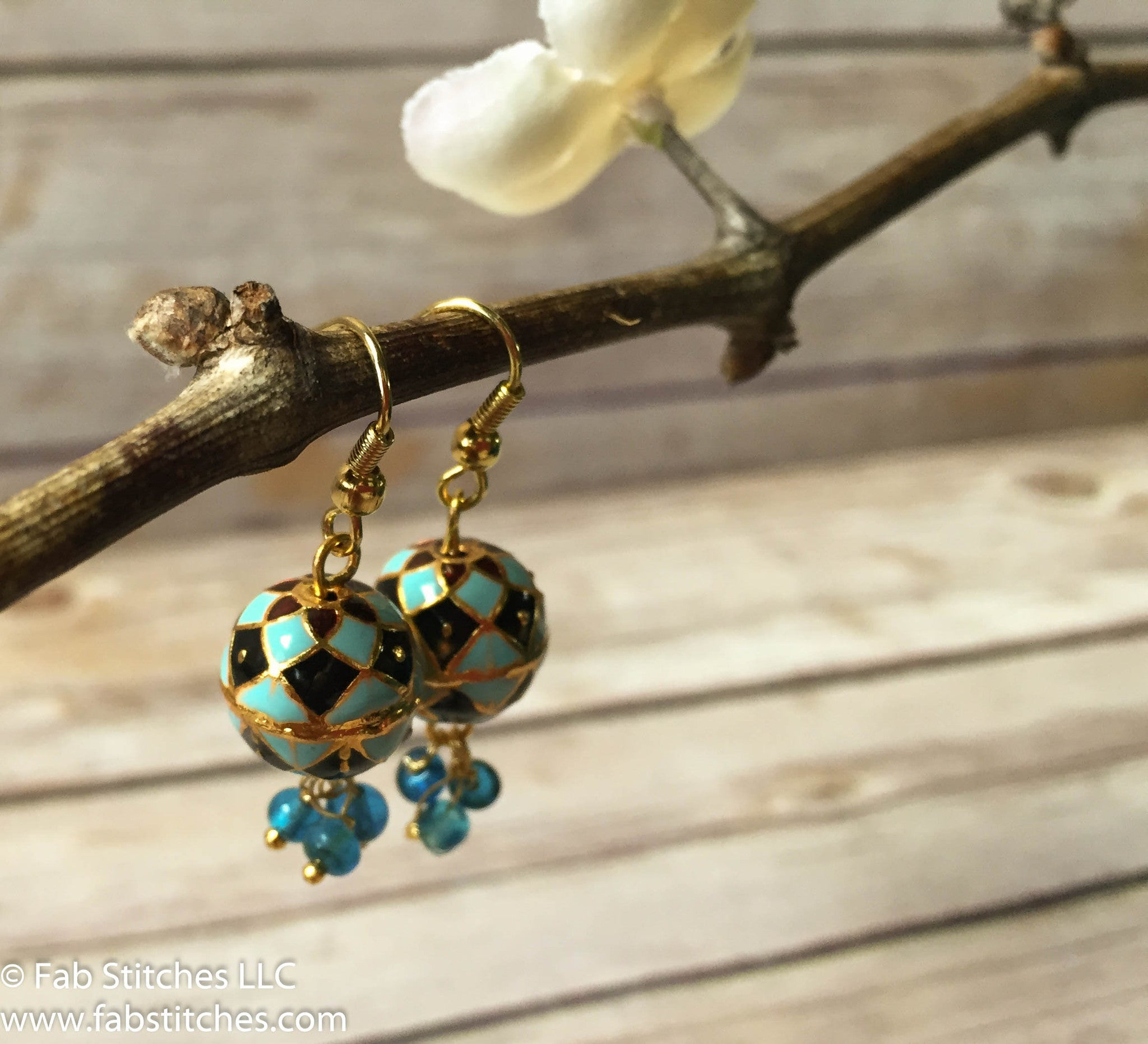 jewelry enamel colorful earring basket product nature of leaf earrings blue