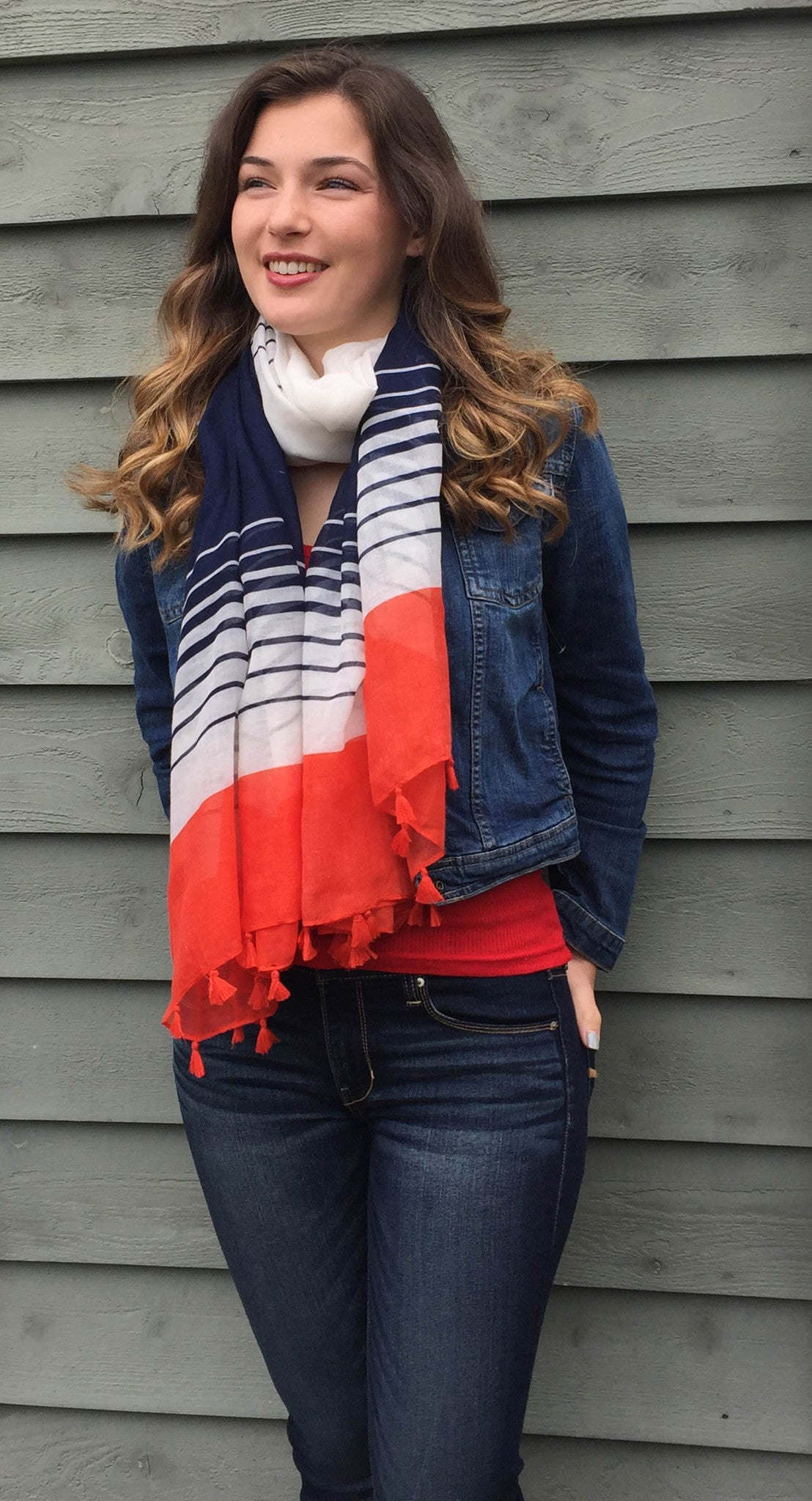 b0b32a526 Independence Day Sale Red White Blue Scarf