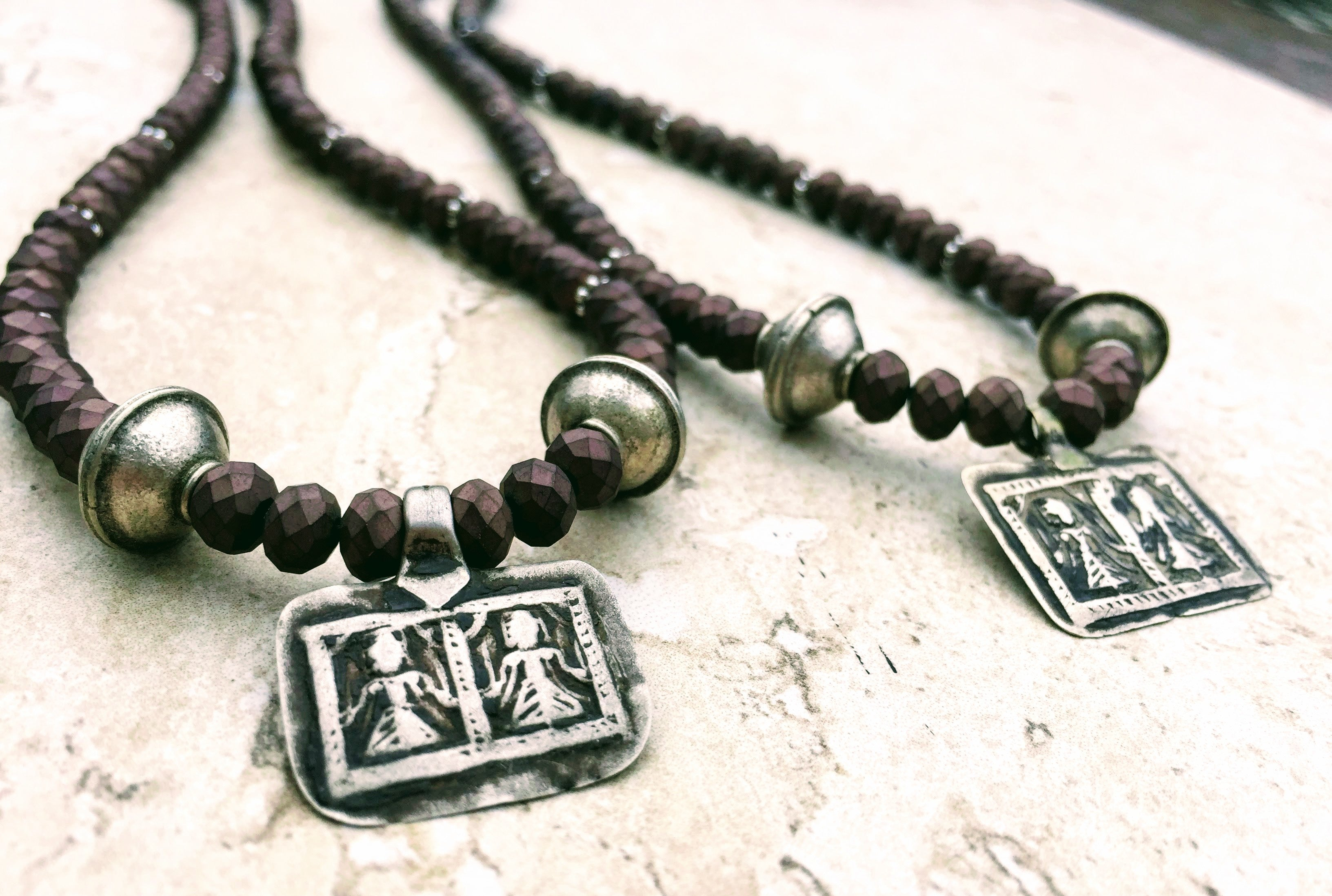 be44a8b783 Ethnic Indian Sister Goddess Necklace Pair, Best Friends Necklace ...