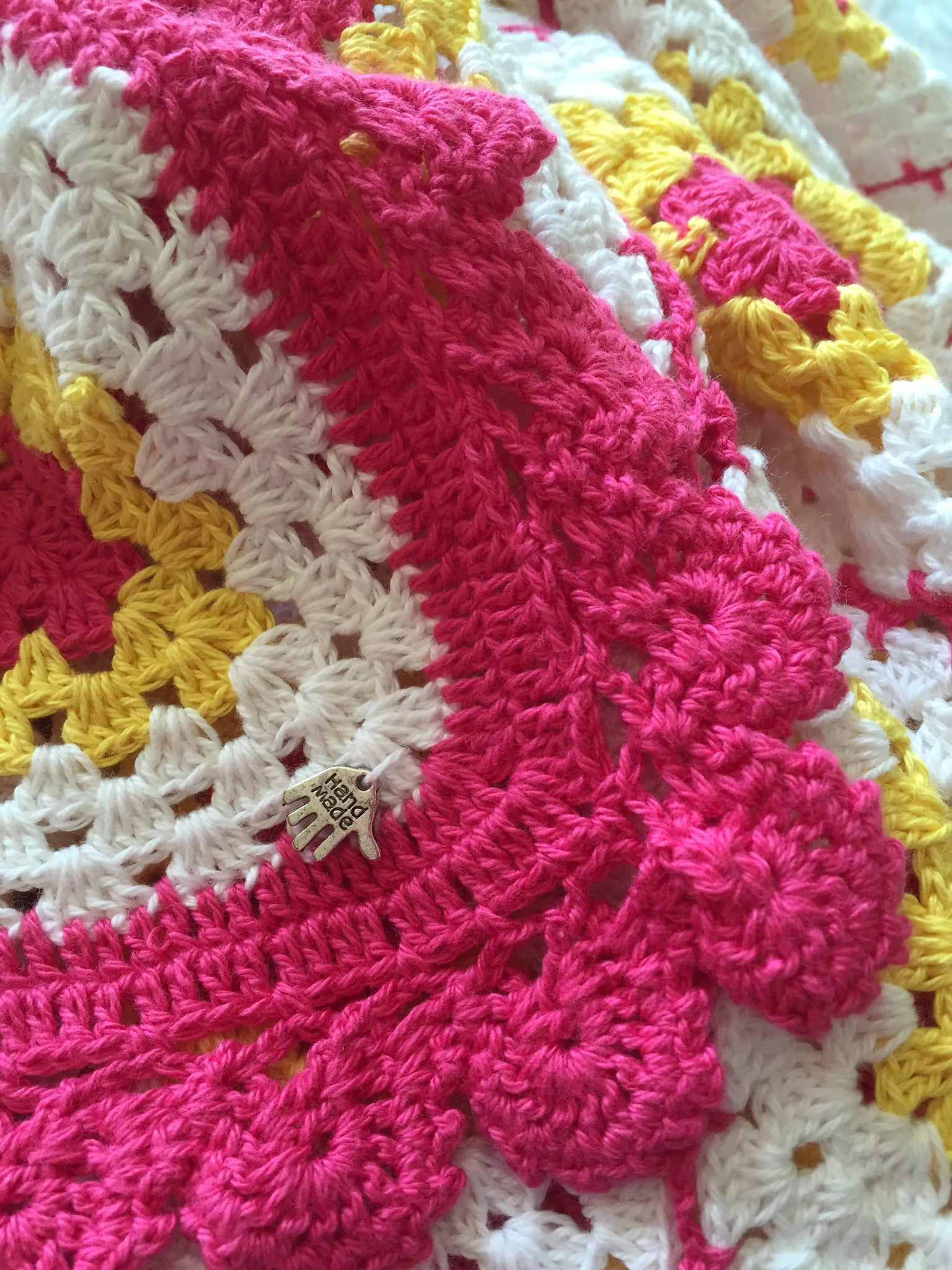 Girl Baby Shower Gift Crochet Throw Baby blanket