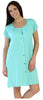 Women's Bamboo Sleepshirt in Solid Teal Blue