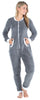 Women's Plush Fleece Non-Footed Onesie Pajama in Grey