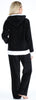 Women's Fleece 2-Piece Full Zip Hooded Jacket Loungewear Set