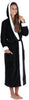 Women's Fleece Sherpa-Lined Hooded Robe in Black
