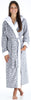 Women's Fleece Robe with Sherpa-Lined Hood and Trim Bathrobe