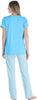 Women's Knit Short Sleeve T-Shirt and Relaxed Fit Pants Pajama Set