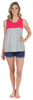 Women's Sleepwear Tank Top and Soft Denim Shorts Pajama Set