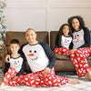 Holiday Family Matching Winter Fleece Snowman Pajama Sets