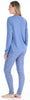 Women's Slouchy Long Sleeve Tie Drawstring Top and Legging Pajama Set
