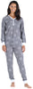 Women's Thermal Pajama Set in Grey Snowflake