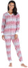 Women's Thermal Pajama Set in Cross Stitch Fairisle