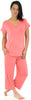 Women's Bamboo Jersey V-Neck and Capri Pant Pajama Set