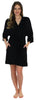 Pajama Heaven Women's Bamboo Jersey Wrap Robe with Pockets in Black