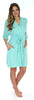 Bamboo Jersey Short Wrap Robe with Pockets