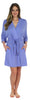 Pajama Heaven Women's Bamboo Jersey Wrap Robe with Pockets in Lavender